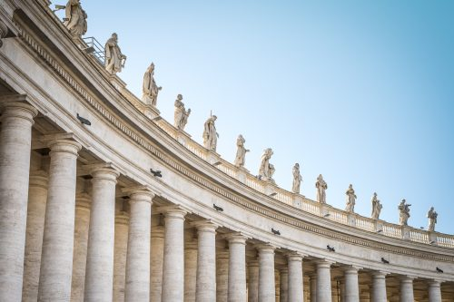 statues of saints from Vatican